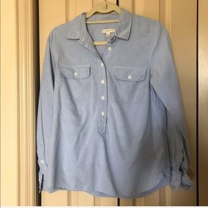 J Crew Denim Button-up Blouse